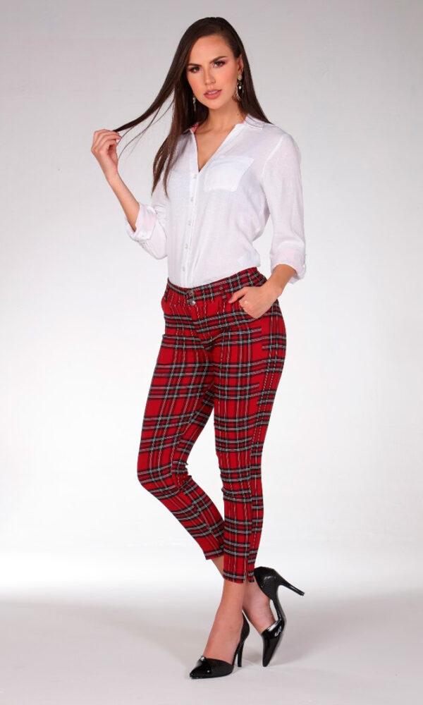 Pantalon-para-mujer-al-por-mayor-pantalon-de-moda-San-alejo-moda-ref-DANDY-STAM--frente-tartan-rojo